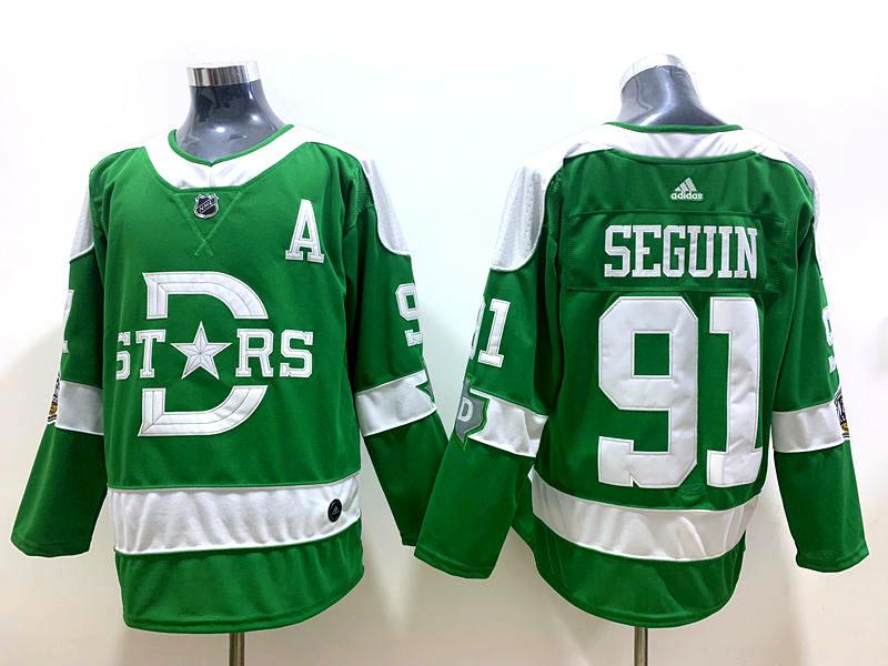Stars #91 Tyler Seguin Green 2020 Winter Classic Adidas Jersey