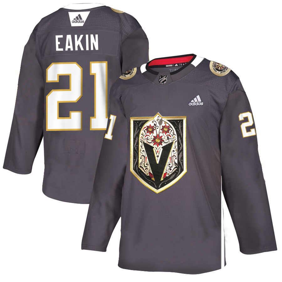Vegas Golden Knights #21 Cody Eakin Gray Dia De Los Muertos Adidas Jersey