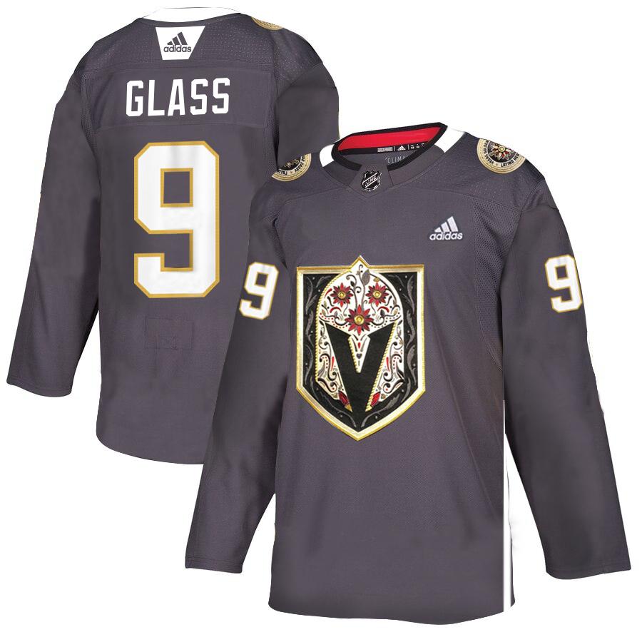 Vegas Golden Knights #9 Cody Glass Gray Dia De Los Muertos Adidas Jersey