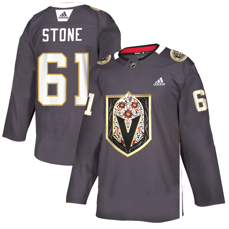 Vegas Golden Knights #61 Mark Stone Gray Dia De Los Muertos Adidas Jersey