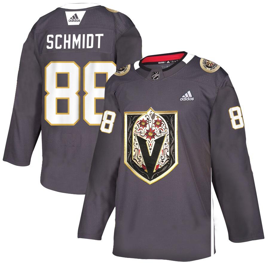 Vegas Golden Knights #88 Nate Schmidt Gray Dia De Los Muertos Adidas Jersey