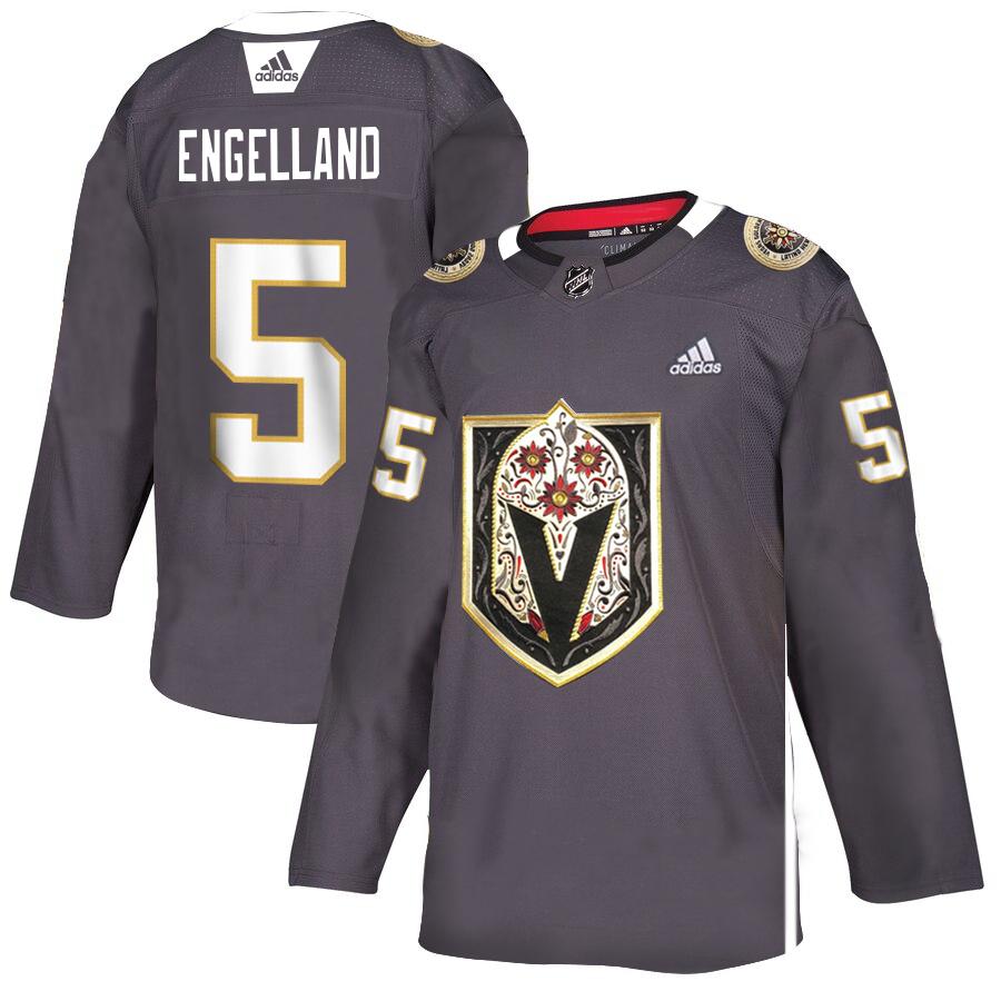 Vegas Golden Knights #5 Deryk Engelland Gray Dia De Los Muertos Adidas Jersey