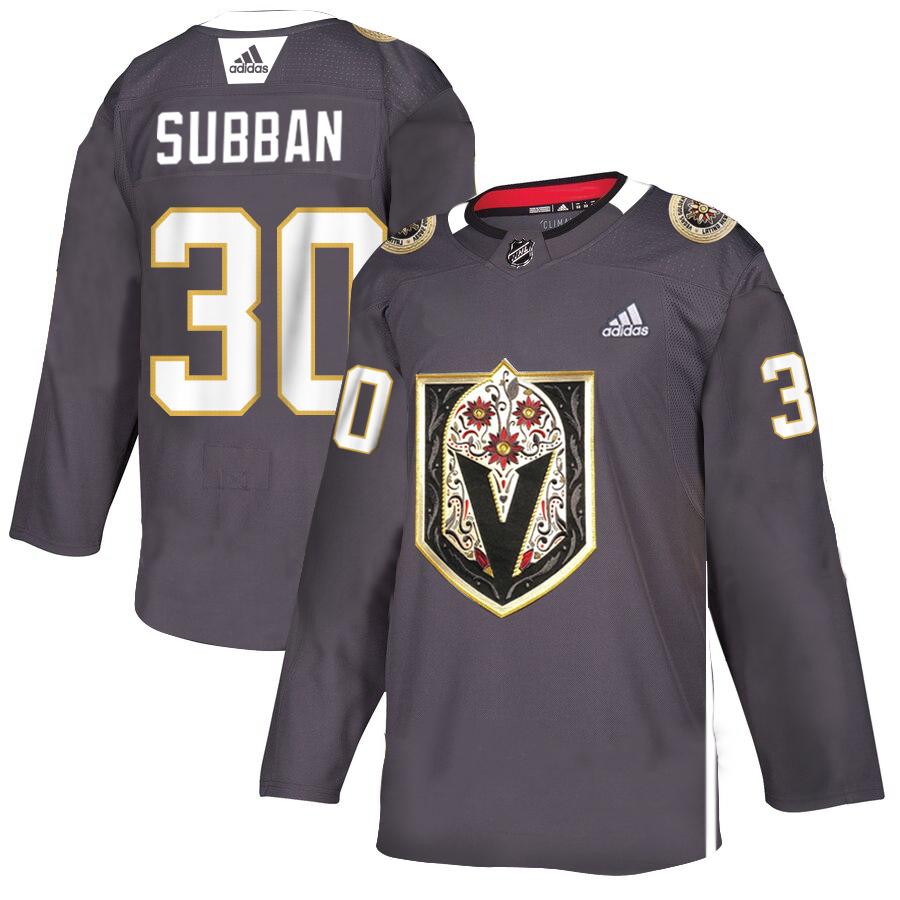 Vegas Golden Knights #30 Malcolm Subban Gray Dia De Los Muertos Adidas Jersey