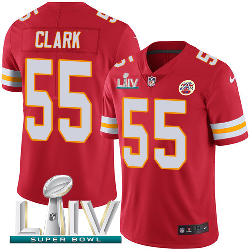 Nike Chiefs #55 Frank Clark Red Super Bowl LIV 2020 Team Color Youth Stitched NFL Vapor Untouchable Limited Jersey