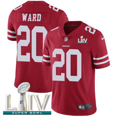 Nike 49ers #20 Jimmie Ward Red Super Bowl LIV 2020 Team Color Youth Stitched NFL Vapor Untouchable Limited Jersey