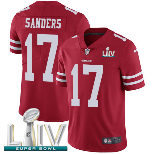 Nike 49ers #17 Emmanuel Sanders Red Super Bowl LIV 2020 Team Color Youth Stitched NFL Vapor Untouchable Limited Jersey