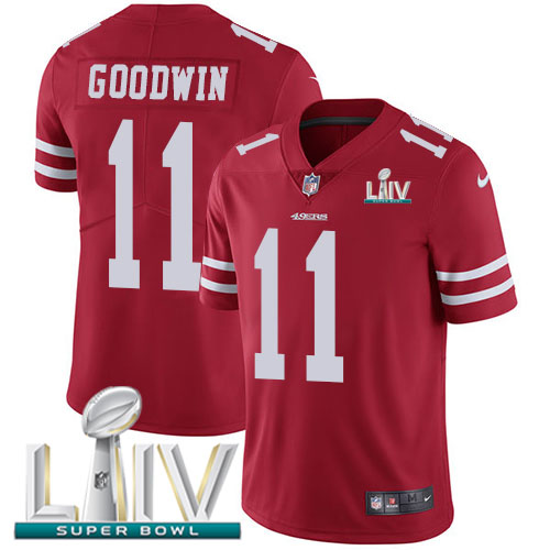 Nike 49ers #11 Marquise Goodwin Red Super Bowl LIV 2020 Team Color Youth Stitched NFL Vapor Untouchable Limited Jersey