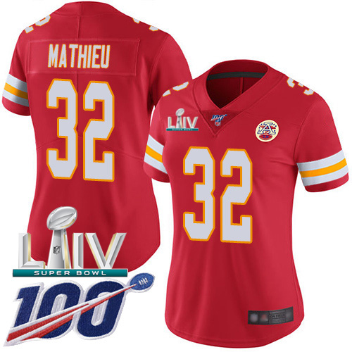 Nike Chiefs #32 Tyrann Mathieu Red Super Bowl LIV 2020 Team Color Women's Stitched NFL 100th Season Vapor Untouchable Limited Jersey
