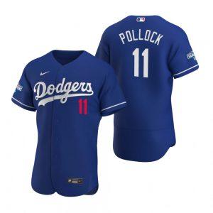 Los Angeles Dodgers #11 A.J. Pollock Royal 2020 World Series Champions MLB Jersey