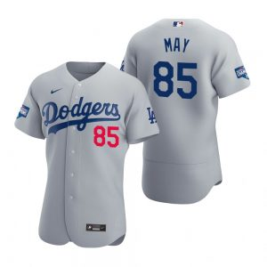 Los Angeles Dodgers #85 Dustin May Gray 2020 World Series Champions MLB Jersey