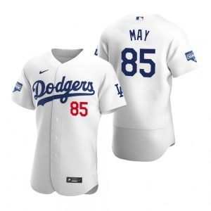 Los Angeles Dodgers #85 Dustin May White 2020 World Series Champions MLB Jersey