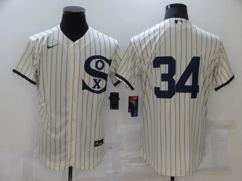 Men's Chicago White Sox #34 Michael Kopech 2021 Cream Navy Field of Dreams Flex Base Stitched MLB Jersey