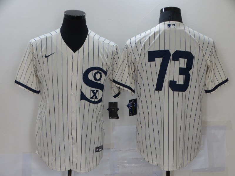 Men's Chicago White Sox #73 Yermin Mercedes 2021 Cream Field of Dreams Cool Base Stitched Nike MLB Jersey