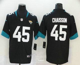Men's Jacksonville Jaguars #45 K'Lavon Chaisson Black New 2020 Vapor Untouchable Stitched NFL Nike Limited Jersey