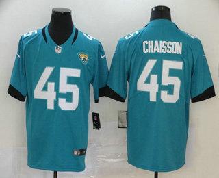 Men's Jacksonville Jaguars #45 K'Lavon Chaisson Teal Blue New 2020 Vapor Untouchable Stitched NFL Nike Limited Jersey