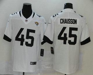 Men's Jacksonville Jaguars #45 K'Lavon Chaisson White New 2020 Vapor Untouchable Stitched NFL Nike Limited Jersey