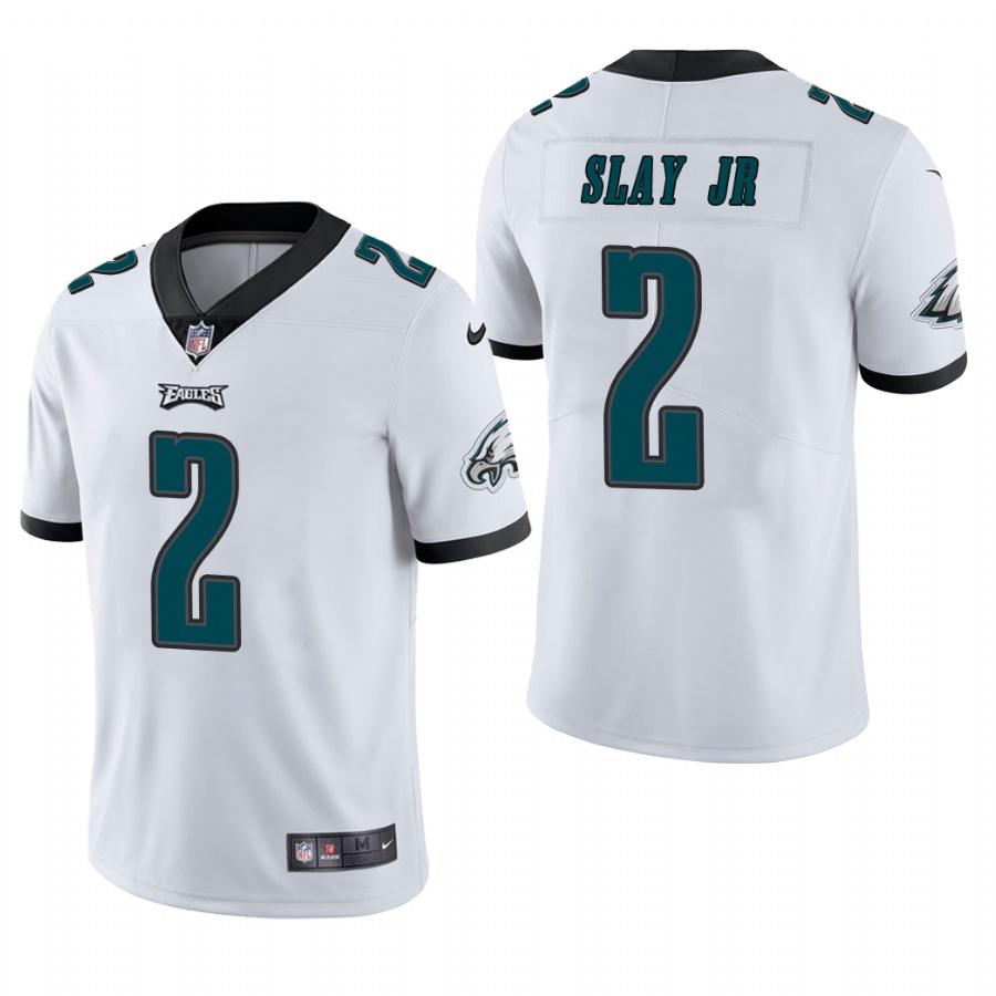 Men's Philadelphia Eagles #2 Darius Slay Jr. NFL White Vapor Limited Jersey