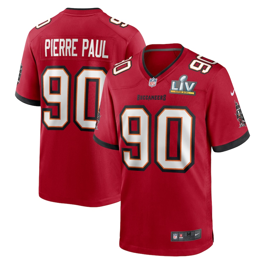 Men's Tampa Bay Buccaneers Jason Pierre-Paul #90 Nike Red Super Bowl LV Game Jersey