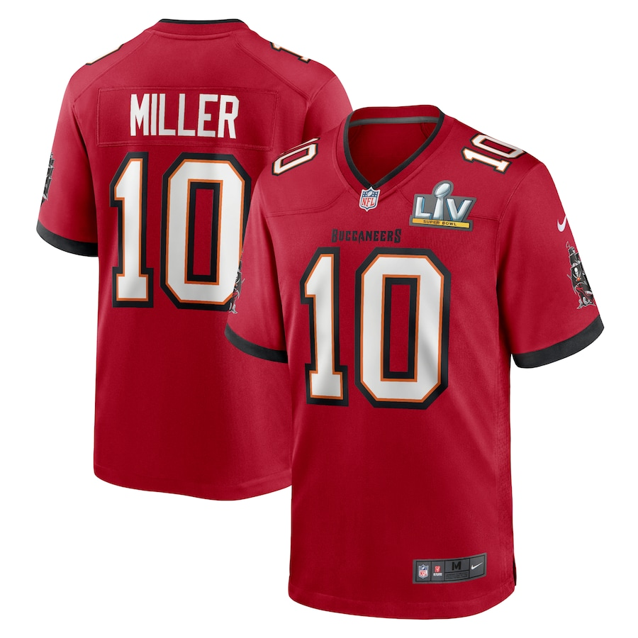 Men's Tampa Bay Buccaneers Scotty Miller #10 Nike Red Super Bowl LV Game Jersey